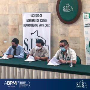 Firma de convenio con la SIB SC y CII